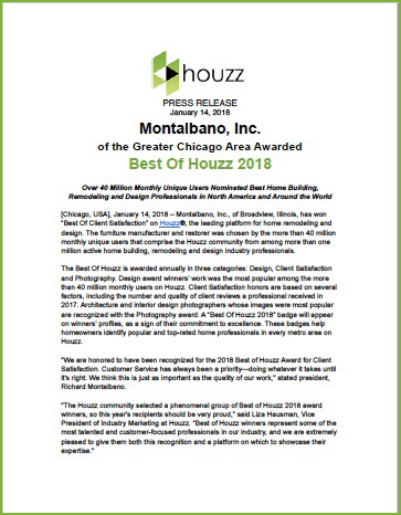 Houzz Award Press Release